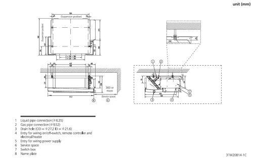 small resolution of daikin slim ducted air conditioning unit inverter heat pump fdxs35f 3 5kw 12000btu a 240v